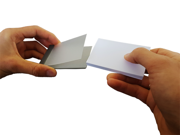 3. insert mini-blocks into EZ-packs covers